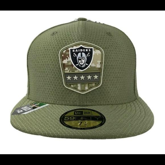 Las Vegas Raiders Salute to Service New Era Hat